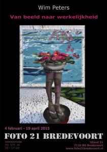 Affiche van de expositie van Wim Peters