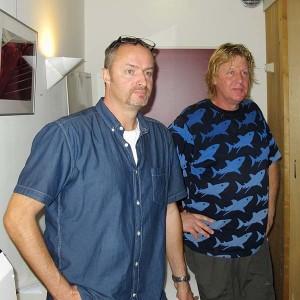 Ron Sanders (links) en Ivo Scholten.
