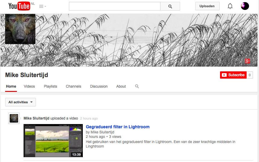 Het Youtube kanaal van Mike van Lierop